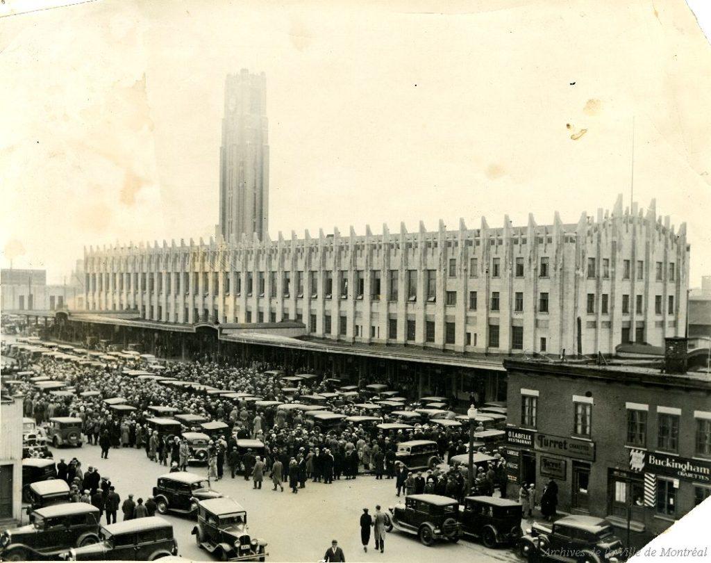 le marché Atwater dans les années 30, vieille photo d'archive