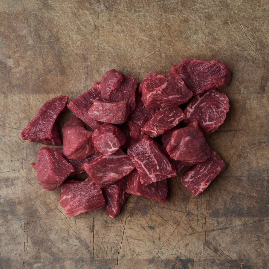 Cubes de bœuf bourguignon